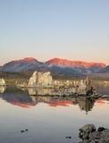 Shallow lake, reefs Tufa. Royalty Free Stock Photography