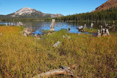 Shallow lakes in the mountains Stock Image