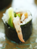 Shallow maki shrimp sushi Stock Photos