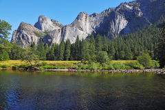 Shallow Merced River Royalty Free Stock Images