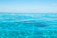 Shallow Ocean. Shallow Water of the Atlantic Ocean Stock Photos