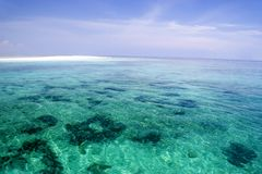 Shallow Open Sea and Sand Bar stock photo