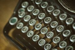 Shallow Photoghrapy of Black and Gray Type Writer Keys Stock Image