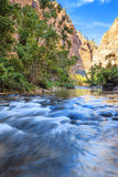 Shallow rapids of the Virgin Rive Stock Image