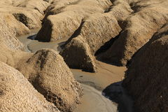 Shallow ravine. Made by a mud volcano Stock Images