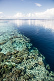 Shallow Reef and Deep Water Royalty Free Stock Photo