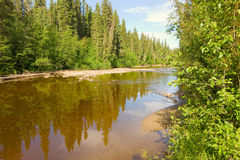 A shallow river in the northwest territories Stock Photo