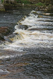 Shallow River Weir. Royalty Free Stock Photo