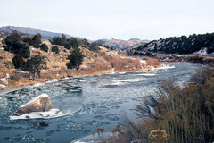 The shallow section of the Arkansas River in the upper reaches, Royalty Free Stock Image