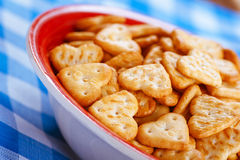 Shallow-shaped cookies Stock Photos