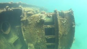 Shallow Shipwreck stock video