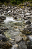 A shallow stream in the wild. Running river Stock Image