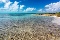 Shallow Water in Caribbean Sea Stock Photo