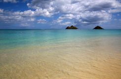 Shallow water on Lanikai Beach Stock Photo