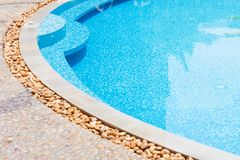 Shallow water poolside Stock Image