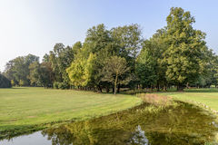 Shallow waters and glade in Villa Reale park, Monza, Italy Stock Photo