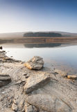 Shallow Yorkshire moorland reservoir Stock Photos