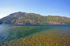 Shallows and Lake in a Mountain Park Stock Images