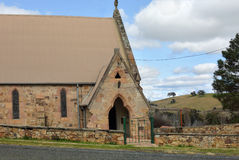 Shalom House of Prayer Carcoar. Shalom House of Prayer, rustic hewn sandstone church in rural outback Carcoar, Central West NSW, Australia Royalty Free Stock Photos