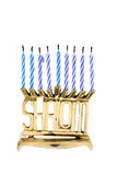 Shalom Menorah Royalty Free Stock Photography