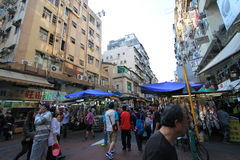 Sham Shui Po street view in Hong Kong Stock Images