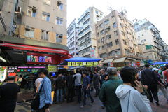 Sham Shui Po street view in Hong Kong Stock Image