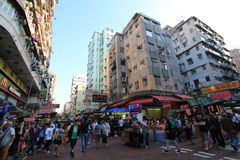 Sham Shui Po street view in Hong Kong Royalty Free Stock Photos