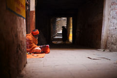 Shaman in a alley Stock Photo