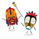 Shaman. Ancient shaman characters on white background Royalty Free Stock Image