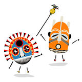 Shaman. Ancient shaman characters on white background Royalty Free Stock Photos