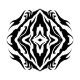 Shaman Eye Vector Glyph Symbol. A black and white Native American spiritual eye vector symbol Royalty Free Stock Image