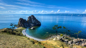 Shaman Rock, Island of Olkhon, Lake Baikal, Russia Royalty Free Stock Images