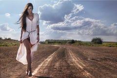 Shaman woman  walking Stock Photo
