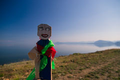 Shamanic doll on background of the sea Royalty Free Stock Photos