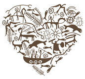 Shamanic heart Stock Image