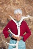 Shamanic Älter-Frau Stockfoto