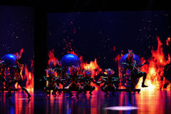 """The shamanic mask dance-Large scale scenarios show"""" The road legend"""". The drama about a Han Princess and king of Tibet Song Xan Gan Bbu and the story Stock Photos"""