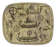 Shamanic petroglyph Royaltyfri Bild