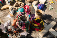 Shamanic ritual objects in Guatemala Stock Photos