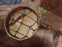 Shamanic tamburin Medicinmanvals E arkivfoto