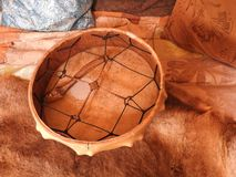Shamanic tamburin Medicinmanvals E arkivbilder