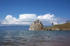 Shamanka Felsen, Baikal Stockbild