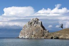 Shamanka Felsen, Baikal Stockbilder
