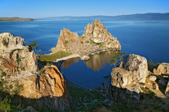 Shamanka-Rock on Baikal lake Royalty Free Stock Photos