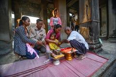 A Shamans prayer of blessing Stock Photos