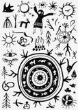 Shamans ritual doodles Royalty Free Stock Photo