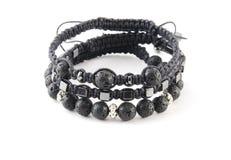 Shamballa budista do bracelete com gemas Imagens de Stock Royalty Free