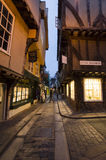 The Shambles at dusk, York Stock Image
