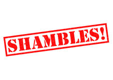 SHAMBLES!. Red Rubber Stamp over a white background Royalty Free Stock Photography