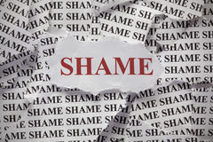 shame Imagens de Stock